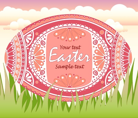 easteregg: Easter egg with floral ornament, vector illustration