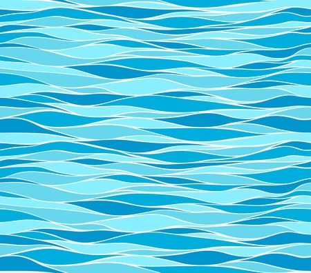Seamless marine wave patterns  Vector