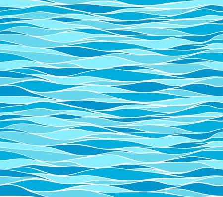 aqueous: Seamless pattern delle onde marine Vettoriali