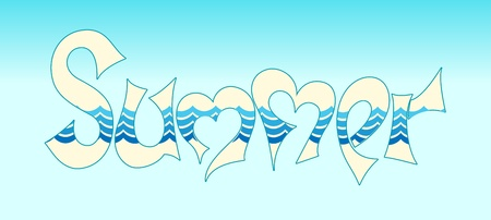 word summer in style graphites