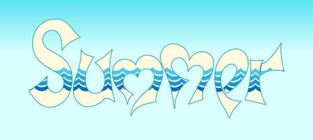 estate parola in stile grafiti