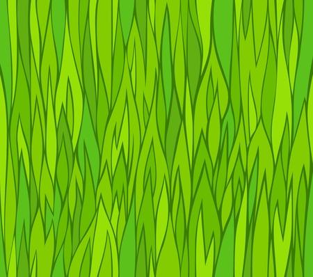Seamless green grass patterns  Vector