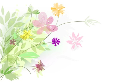 abstract background - bouquet summer flowers Vector