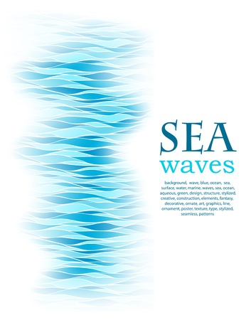 abstract background with sea blue wave