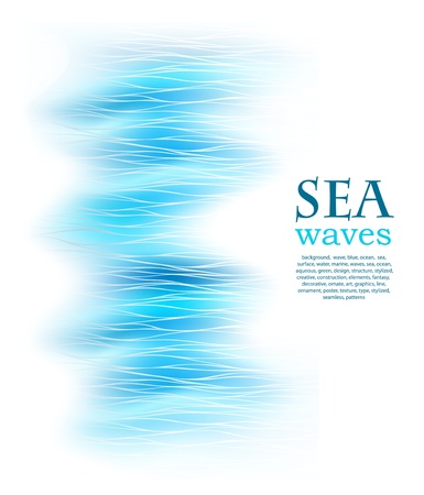 aqueous: abstract background with sea blue wave