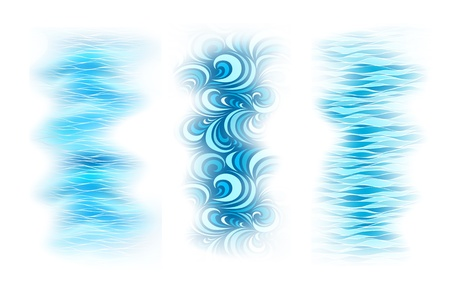 set abstract background with sea blue wave
