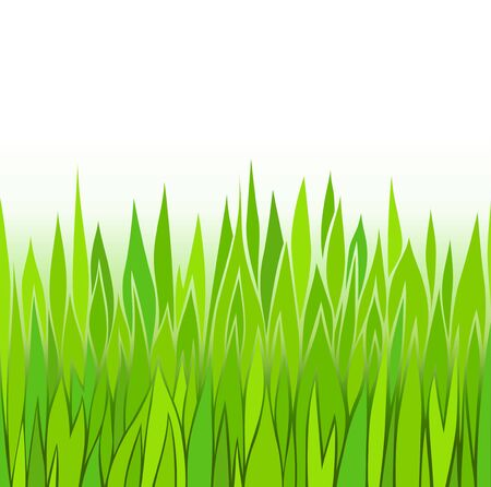 Seamless green grass patterns Stock Vector - 13536415