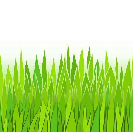 Seamless green grass patterns Stock Vector - 13536415