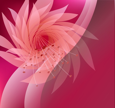 groviglio: sfondo astratto con fiori su sfondo rosa Vettoriali