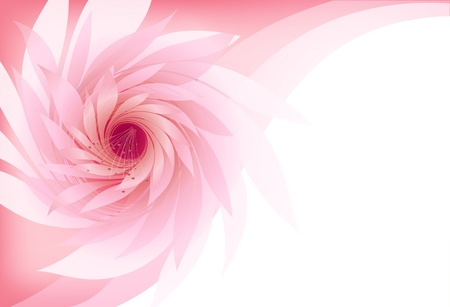 abstract background with flower on rose background Vector