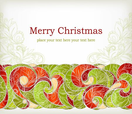 retro type: Vintage Christmas Card   Illustration