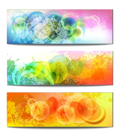 set baner background with air spheres Stock Vector - 15256728