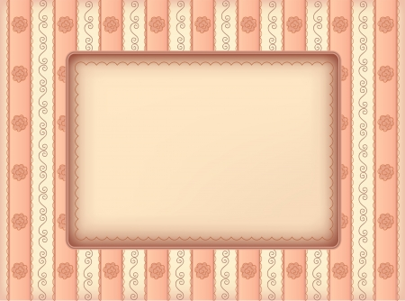 tally: Pink framework in vintage style