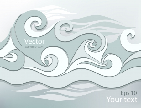 Stylized waves illustration abstract 3D website concept design