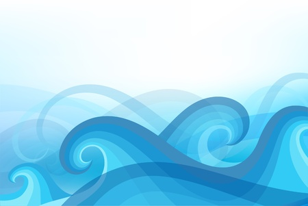 abstract background with stylized wave Vectores