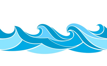 Naadloos patroon met gestileerde golven