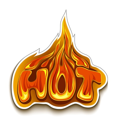 Fiery hot sale design template. Stock Vector - 20883636