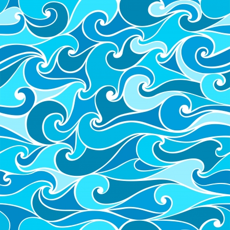 Seamless patterns with stylized wave