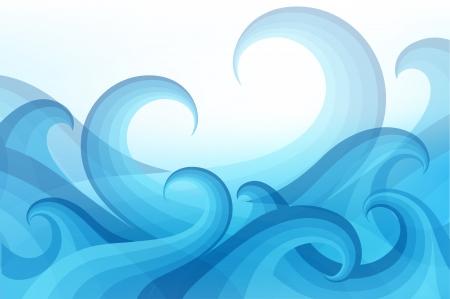 abstract background with stylized wave Ilustração