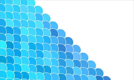 aqueous: sfondo blu con le onde stilizzate