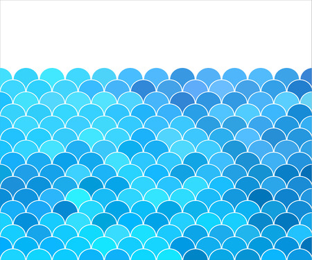 blue background with stylized wave