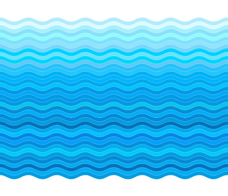 aqueous: Vector blue background with stylized wave Illustration