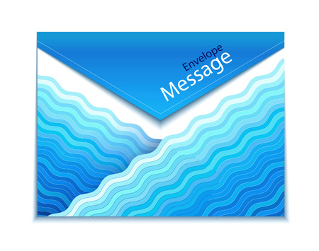 aqueous: Envelope design with waves Illustration