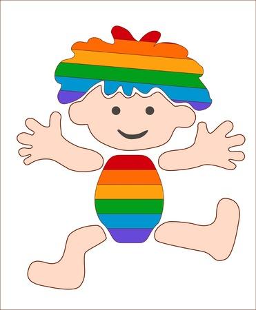 cheerful, rainbow baby, stylized image