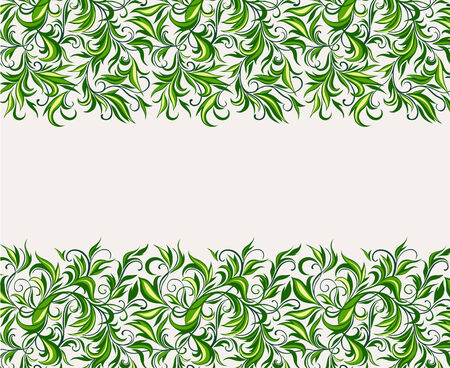 affluence: Background of stylized leaves and branches