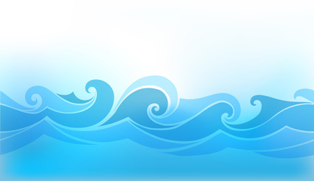abstract background with stylized wave Vettoriali