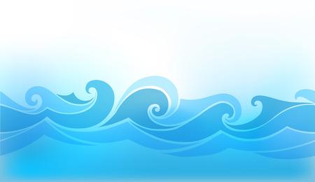 aqueous: sfondo astratto con un'onda stilizzata Vettoriali