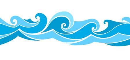 naadloze golven van het element van het ontwerp Stock Illustratie