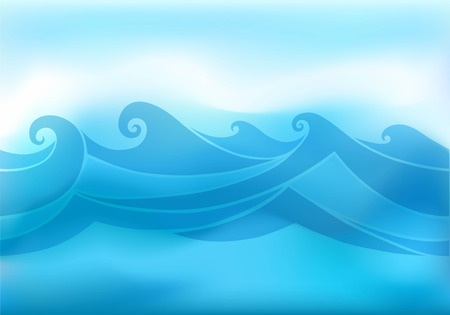 aqueous: abstract background with stylized wave Illustration