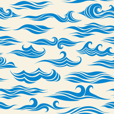 seamless pattern waves from element of the design Illustration