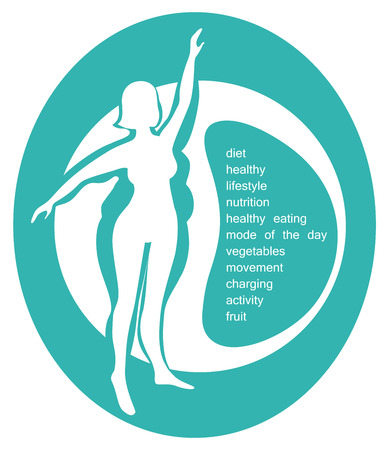side profile: conceptual illustration - a healthy lifestyle