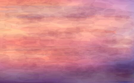 painted image: Beautiful abstract background - sunrise on the sea