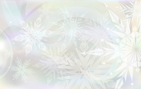 hristmas: Beautiful, magic c hristmas background with light snowflakes Illustration