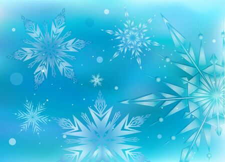 hristmas: Beautiful, magic hristmas background with light snowflakes
