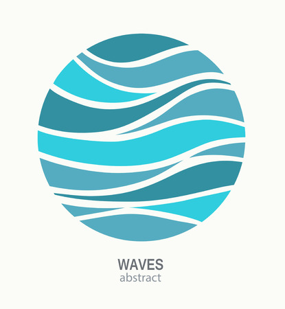 striped: Water Wave Logo abstract design