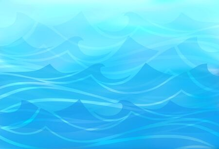 spume: Beautiful blue background of stylized waves