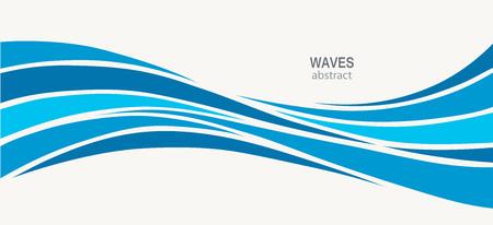 Logotipo de la onda de agua diseño abstracto