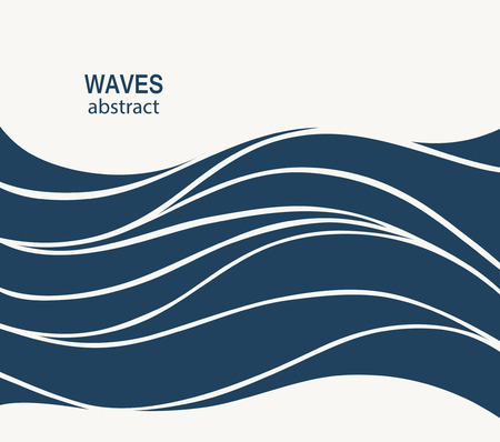 wave abstract: Water Wave Logo abstract design. Cosmetics Surf Sport Logotype concept. Square aqua icon.