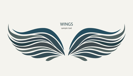 Wings pattern on a light background illustration.