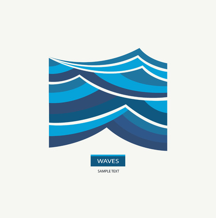 Water Wave Logo abstract design. Imagens