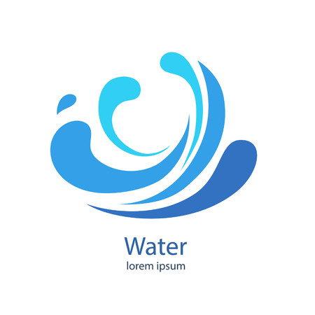 Water Wave Logo abstract design. Cosmetics Surf Sports Logotype concept.