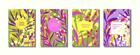 Colorful artistic background with bright blossom. Cover design with floral pattern.It can be used for invitation,  card, cover book, catalog. Size A4.