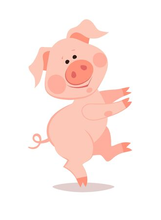 Cartoon little pig. The year of the pig. Chinese New Year. Imagens - 133685230