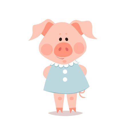 Cartoon little pig. The year of the pig. Chinese New Year. Imagens - 133685237