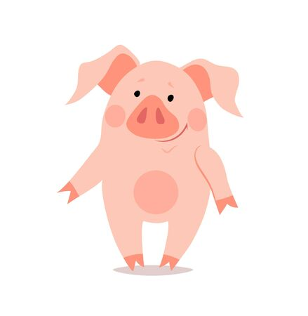 Cartoon little pig. The year of the pig. Chinese New Year.