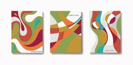 Abstract creative templates, cards, color covers set. Corporate 
